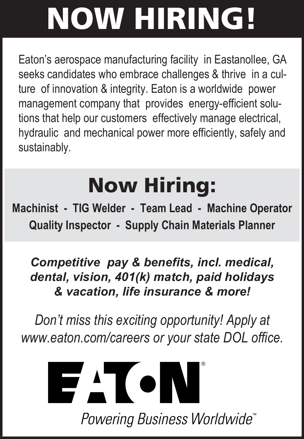 Now Hiring on Multiple Positions in Lavonia, GA, Employment